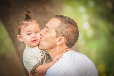 צילומי גיל שנה עם אבא