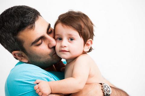 צילום לגיל שנה עם אבא