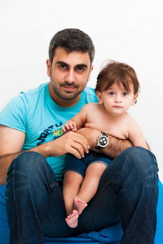 צילום תינוקות - עם אבא בסטודיו