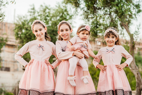 צילום משפחתי - כל האחיות
