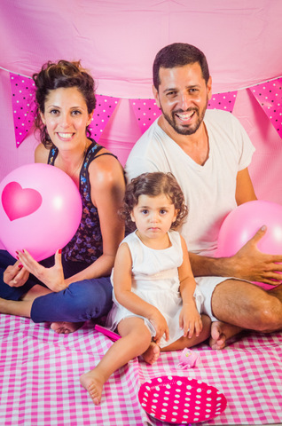 צילומי קייק סמאש בנות עם ההורים