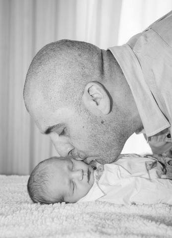 צילומי ניו בורן שחור לבן עם אבא